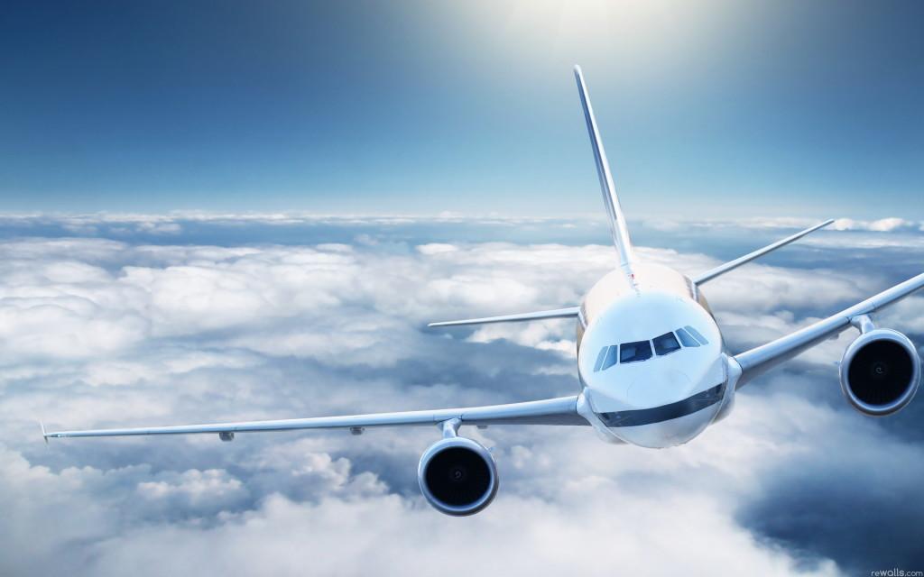 A320 in clouds
