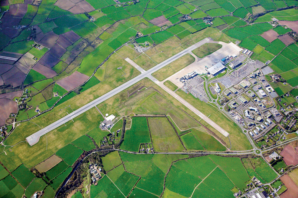 Aerial view of Atlantic Flight Training Academy locations in Cork Airport