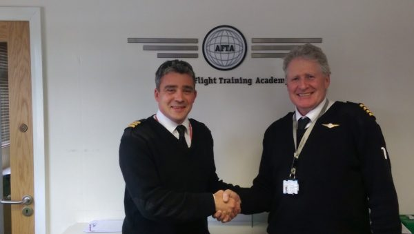 AFTA Seb Pike Deputy CFI with AFTA Aerobatics Instructor Gerry Humphrey