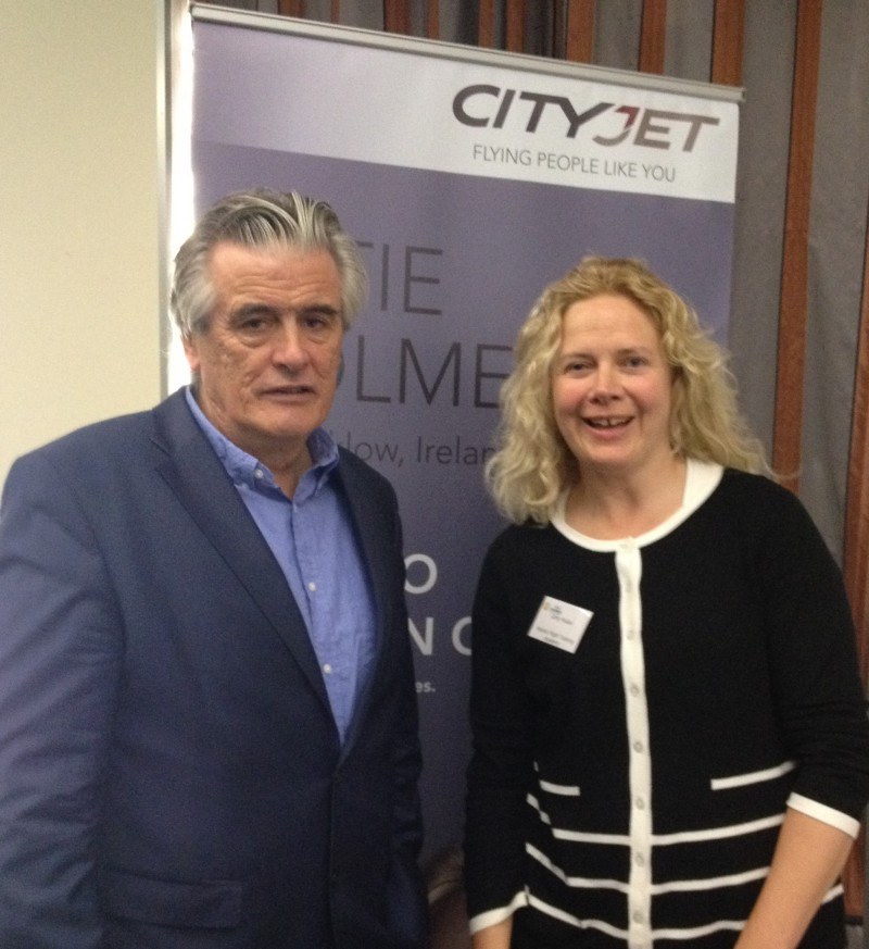 CityJet's Executive Chairman Pat Byrne and AFTA's Sales &-Marketing Executive Cathy Mullan